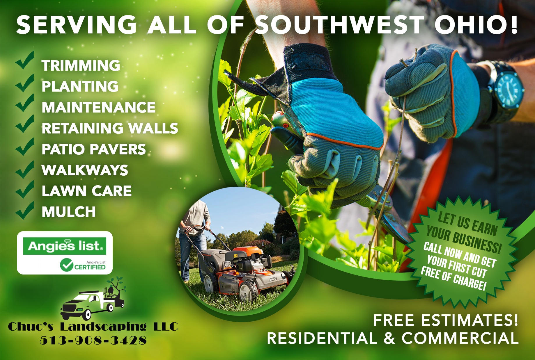 Chuc's Landscaping Flyer Design