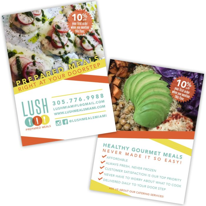 Lush Prepared Meals Ad Design