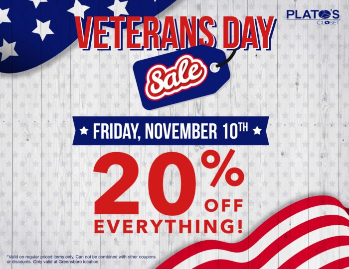Plato's Closet Veteran's Day Flyer Design