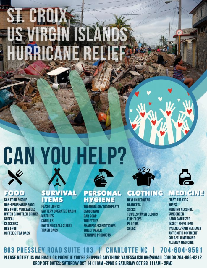 Hurricaine Relief Flyer Design