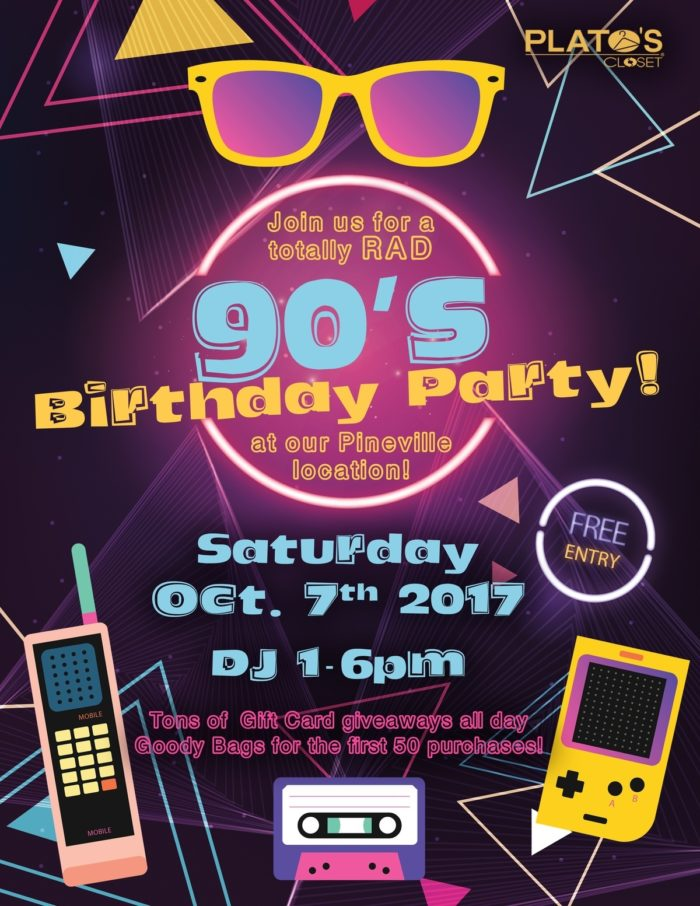 90's Birthday Party Flyer