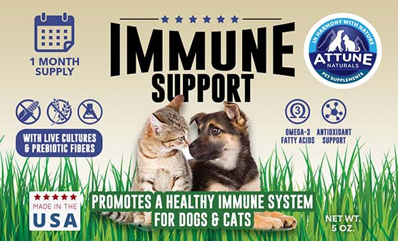 Graphic Design - Product Label Design for Attune Immune Support Supplement